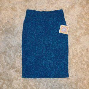 LuLaRoe Cassie Skirt Rose Pattern